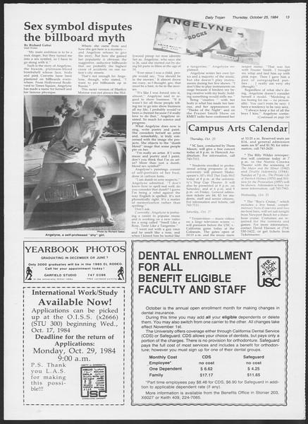 Daily Trojan, Vol. 97, No. 38, October 25, 1984