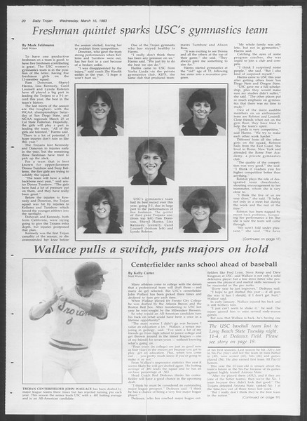Daily Trojan, Vol. 93, No. 44, March 16, 1983