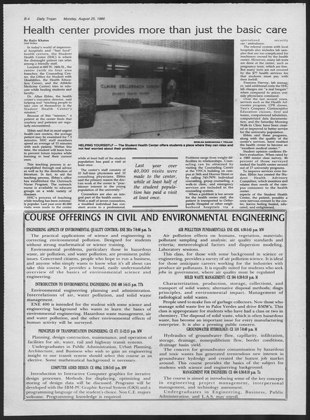 Daily Trojan, Vol. 102, No. 1, August 25, 1986