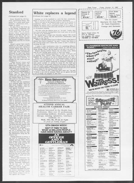 Daily Trojan, Vol. 92, No. 29, October 15, 1982