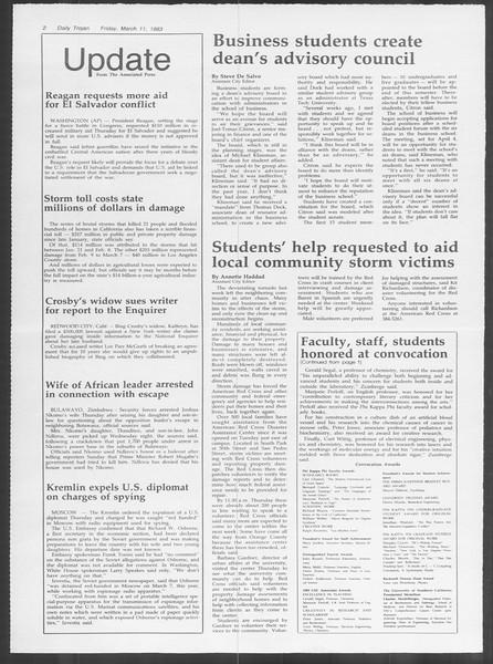 Daily Trojan, Vol. 93, No. 41, March 11, 1983