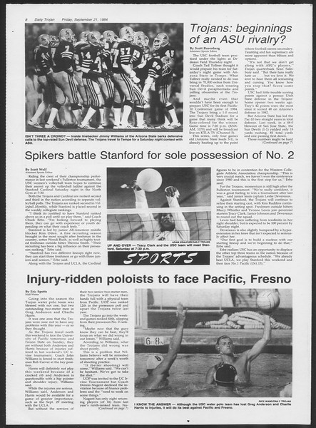 Daily Trojan, Vol. 97, No. 14, September 21, 1984