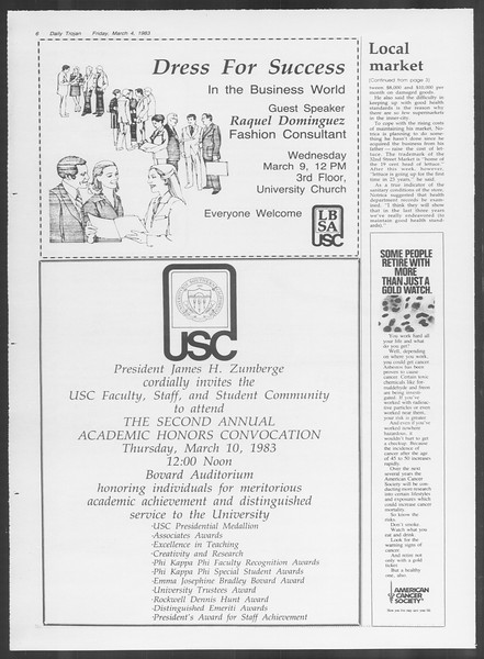 Daily Trojan, Vol. 93, No. 37, March 07, 1983