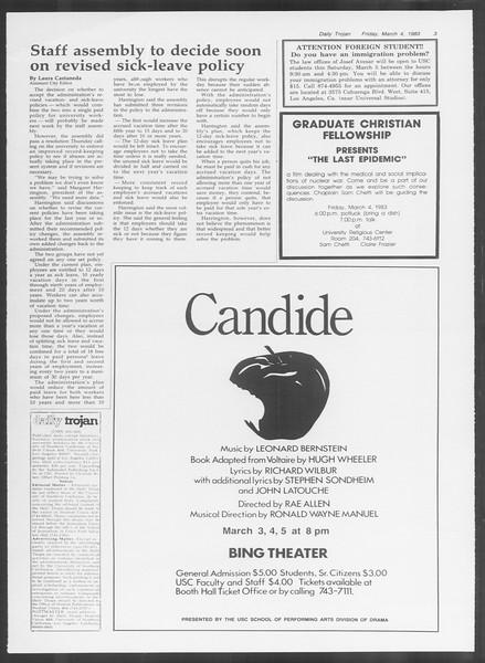 Daily Trojan, Vol. 93, No. 36, March 04, 1983