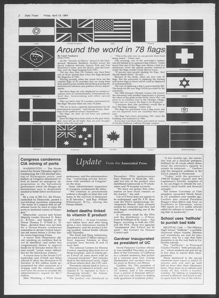 Daily Trojan, Vol. 95, No. 61, April 13, 1984