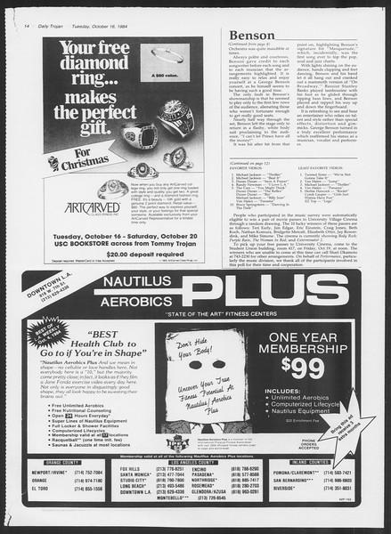 Daily Trojan, Vol. 97, No. 31, October 16, 1984