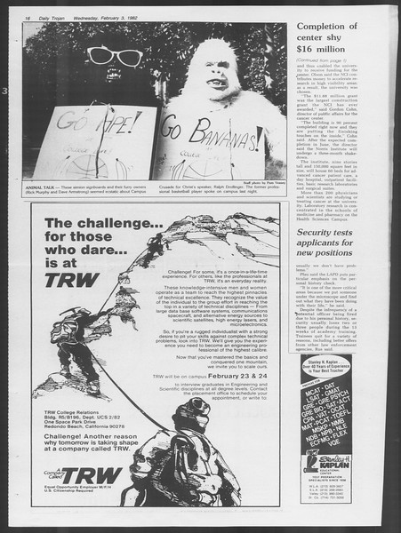 Daily Trojan, Vol. 91, No. 17, February 03, 1982