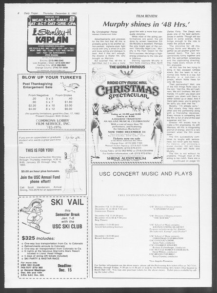 Daily Trojan, Vol. 92, No. 62, December 09, 1982