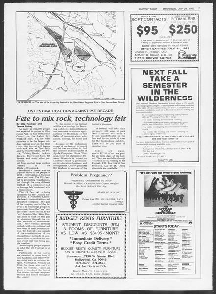 Summer Trojan, Vol. 91, No. 15, July 28, 1982