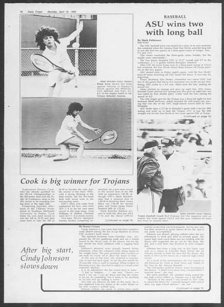 Daily Trojan, Vol. 93, No. 60, April 18, 1983