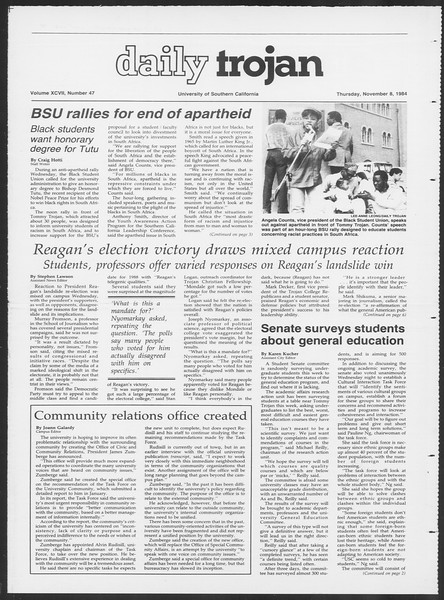 Daily Trojan, Vol. 97, No. 47, November 08, 1984