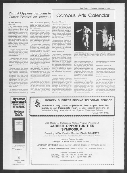 Daily Trojan, Vol. 93, No. 17, February 03, 1983