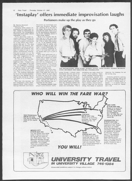 Daily Trojan, Vol. 92, No. 32, October 21, 1982