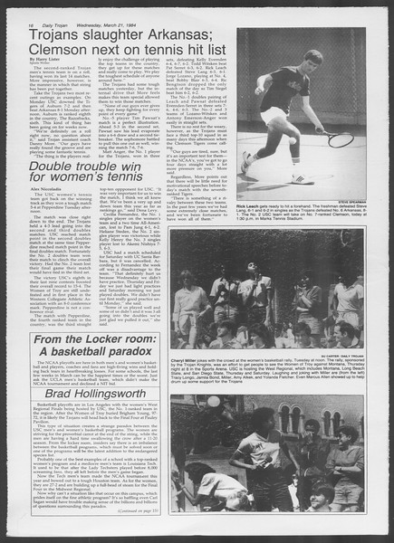 Daily Trojan, Vol. 95, No. 50, March 21, 1984