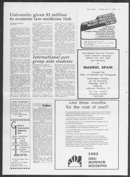Daily Trojan, Vol. 93, No. 61, April 19, 1983