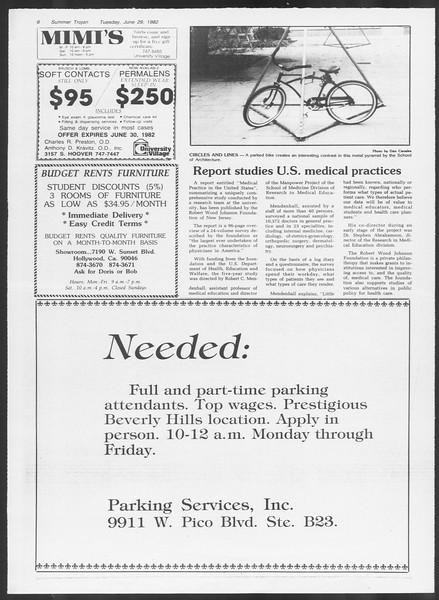 Summer Trojan, Vol. 91, No. 10, June 29, 1982