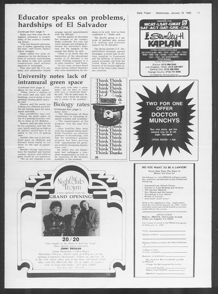 Daily Trojan, Vol. 93, No. 7, January 19, 1983
