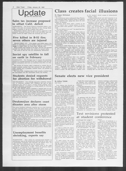 Daily Trojan, Vol. 93, No. 13, January 28, 1983