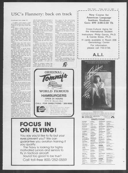 Daily Trojan, Vol. 93, No. 59, April 15, 1983