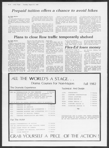 Daily Trojan, Vol. 92, No. 1, August 31, 1982