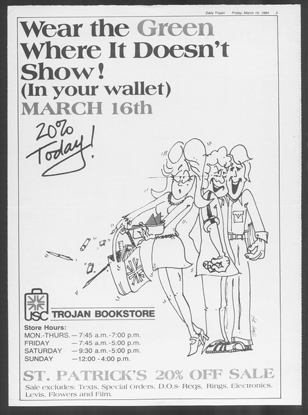 Daily Trojan, Vol. 95, No. 47, March 16, 1984