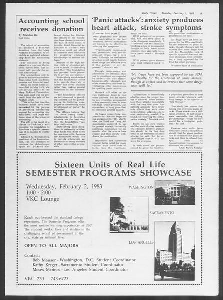 Daily Trojan, Vol. 93, No. 15, February 01, 1983