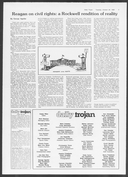 Daily Trojan, Vol. 92, No. 35, October 26, 1982