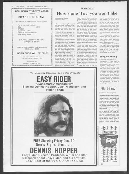 Daily Trojan, Vol. 92, No. 62, December 09, 1982