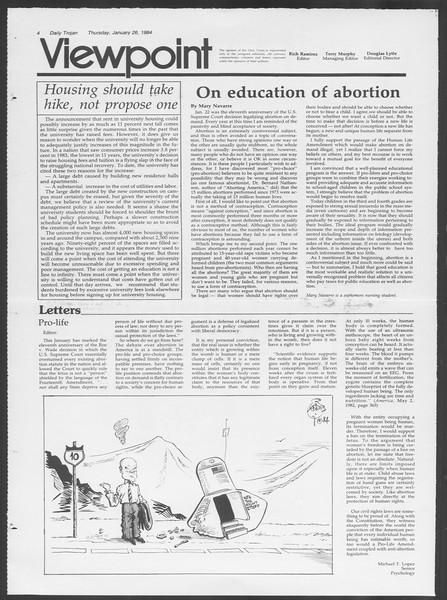 Daily Trojan, Vol. 95, No. 13, January 26, 1984