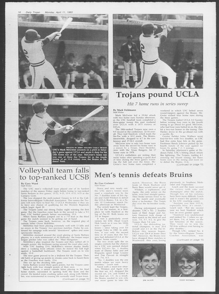 Daily Trojan, Vol. 93, No. 55, April 11, 1983