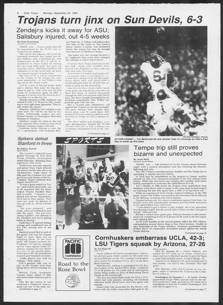 Daily Trojan, Vol. 97, No. 15, September 24, 1984