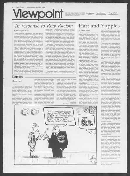 Daily Trojan, Vol. 95, No. 69, April 25, 1984