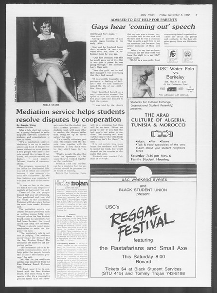 Daily Trojan, Vol. 92, No. 43, November 05, 1982