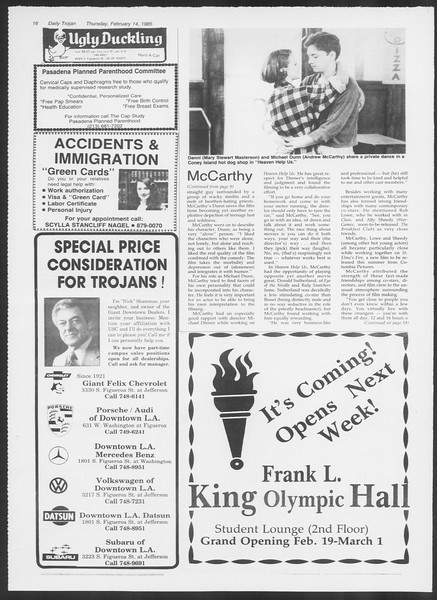 Daily Trojan, Vol. 98, No. 25, February 14, 1985