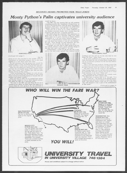 Daily Trojan, Vol. 92, No. 37, October 28, 1982