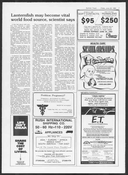 Summer Trojan, Vol. 91, No. 9, June 25, 1982
