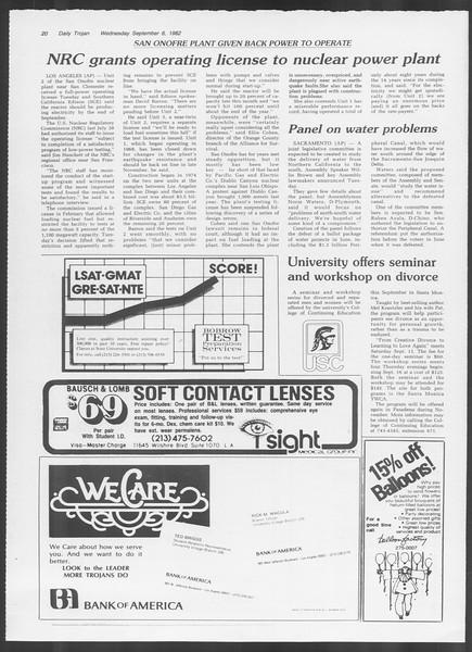 Daily Trojan, Vol. 92, No. 2, September 08, 1982