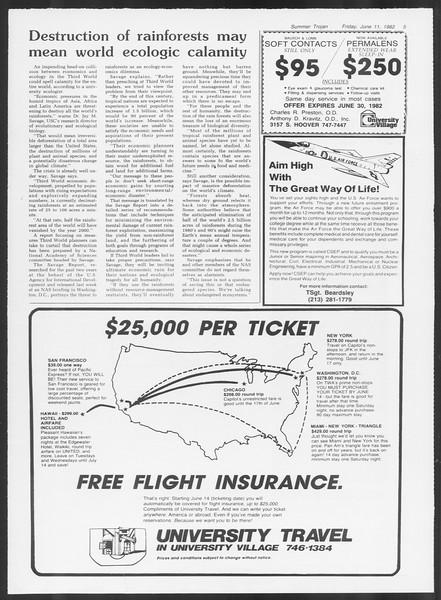 Summer Trojan, Vol. 91, No. 5, June 11, 1982