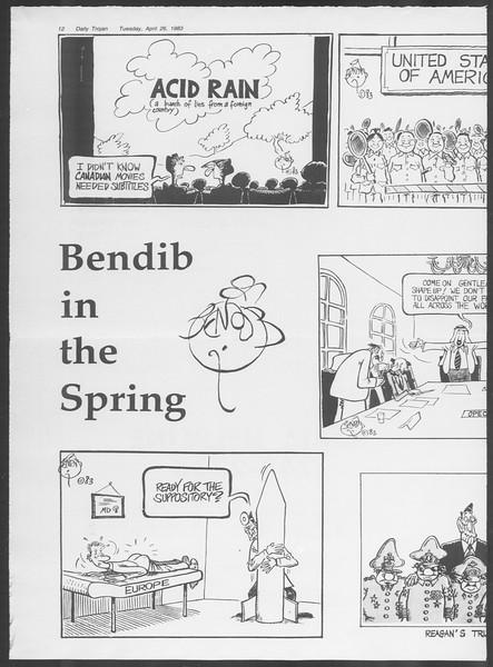 Daily Trojan, Vol. 93, No. 66, April 26, 1983