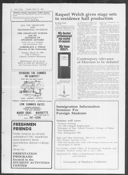 Daily Trojan, Vol. 93, No. 48, March 22, 1983