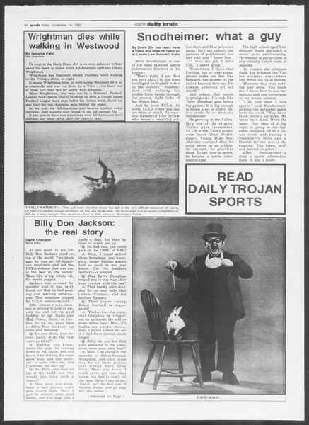 UCLA Daily Bruin, Vol. 92, No. 53, November 19, 1982