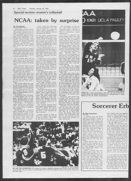 Daily Trojan, Vol. 91, No. 11, January 26, 1982