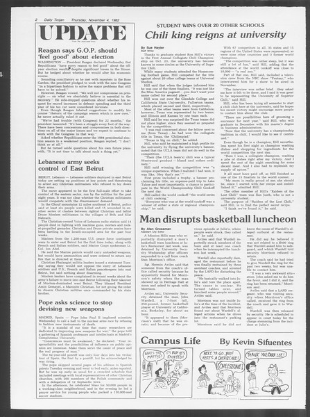 Daily Trojan, Vol. 92, No. 42, November 04, 1982