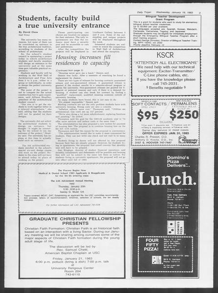 Daily Trojan, Vol. 93, No. 7, January 19, 1983