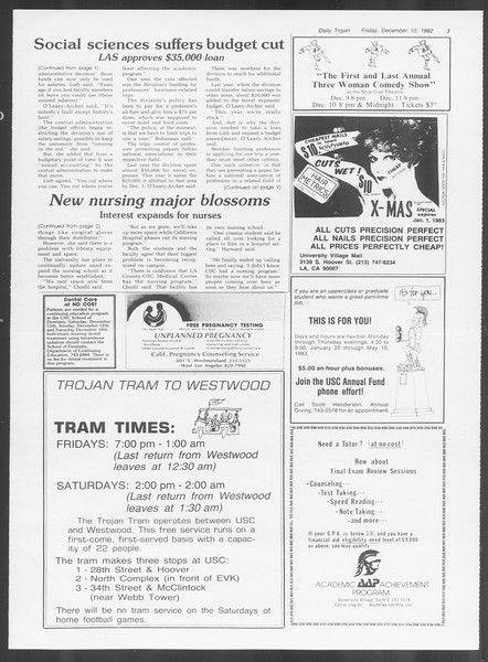 Daily Trojan, Vol. 92, No. 63, December 10, 1982