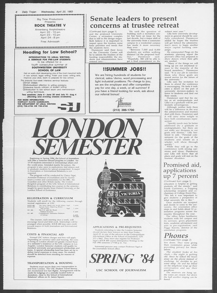 Daily Trojan, Vol. 93, No. 62, April 20, 1983