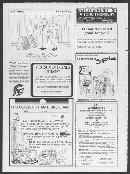 Daily Trojan, Vol. 95, No. 39, March 06, 1984
