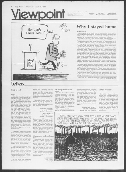 Daily Trojan, Vol. 93, No. 49, March 23, 1983