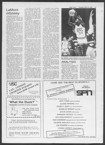 Daily Trojan, Vol. 95, No. 41, March 08, 1984