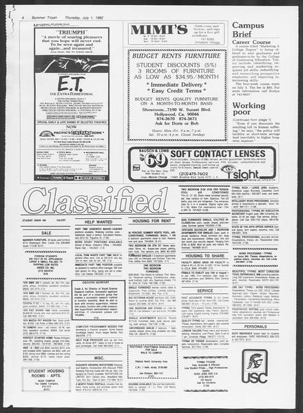 Summer Trojan, Vol. 91, No. 11, July 01, 1982